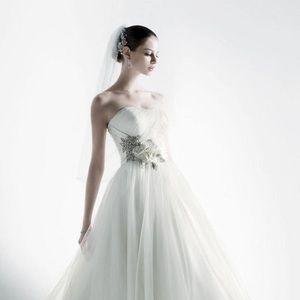 Oleg Cassini tulle wedding gown